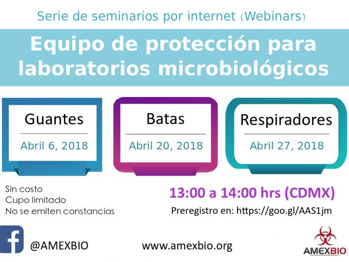 #WebinarAMEXBIO: Equipo de protección