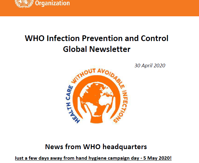 WHO Infection Prevention and Control Global Newsletter