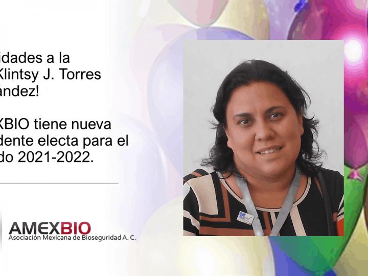 Nueva Presidente AMEXBIO 2021-2022